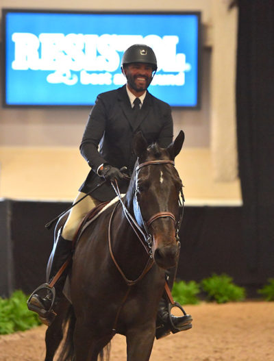 "Jorge Hidalgo and Charlie Boy 2018 Las Vegas National Amateur Owner Hunter 3'6"" Photo by Andrew Ryback"