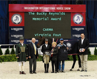 Virginia Fout and Carma 2016 Washington International Bucky Reynolds Memorial Award Recipient Photo by Shawn McMillen