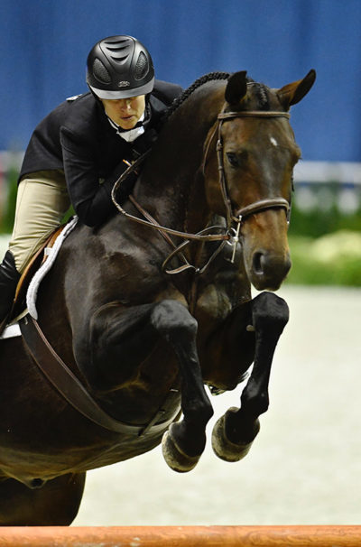 "Virginia Fout and Carma 2018 National Horse Show Amateur Owner Hunter 3'3"" Over 35, Champion"