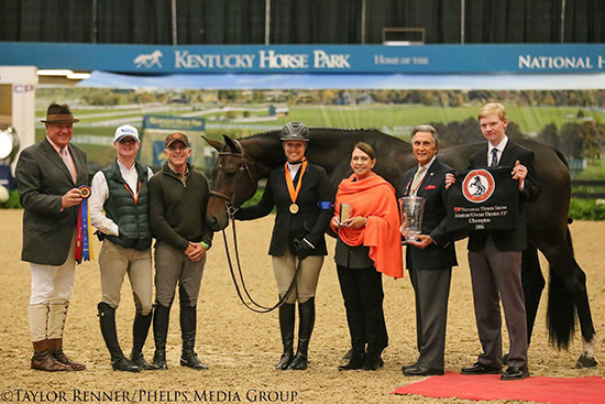 "Virginia Fout and Carma Amateur Owner Hunter 3'3"", Champion 2016 National Horse Show Photo by Taylor Renner/Phelps Media"
