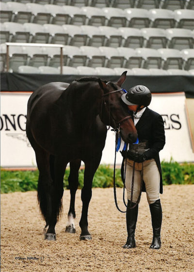 """Virginia Fout and Carma 2017 National Horse Show Amateur Owner Hunter 3'3"""" 36 & Over, Champion Photo by Shawn McMillen"""