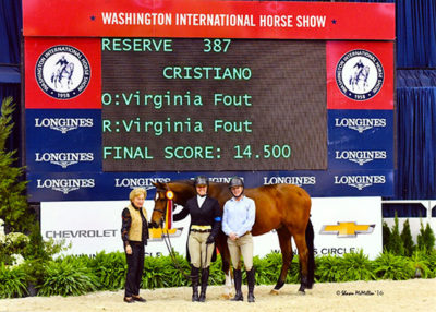 Virginia Fout and Cristiano Amateur Owner Hunter 2016 Reserve Champion Washington International Horse Show Photo by Shawn McMillen