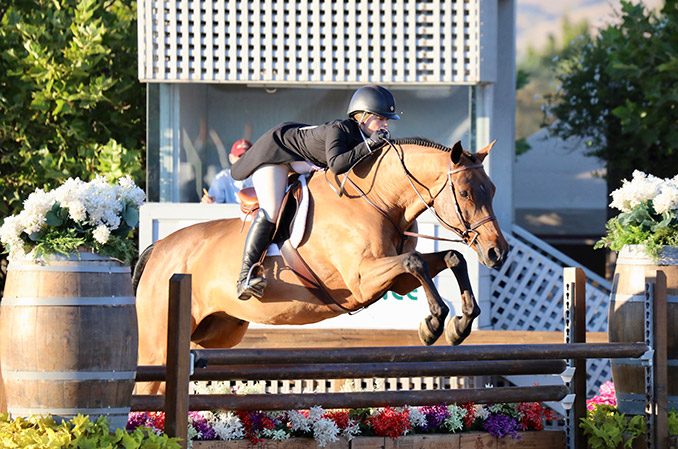 Stella Wasserman and Bocelli HMI Equestrian Classic 1 2019 Sonoma Horse Park Photo by Laura Wasserman