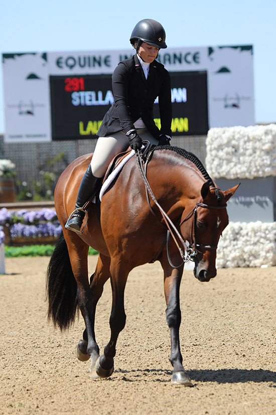 Stella Wasserman and Boss 2019 Sonoma Horse Park HMI Equestrian Classic 1 Photo by Laura Wasserman