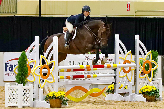 Stella Wasserman and Cohiba VDL 2019 Capital Challenge Equitation 13–14 Photo by Laura Wasserman