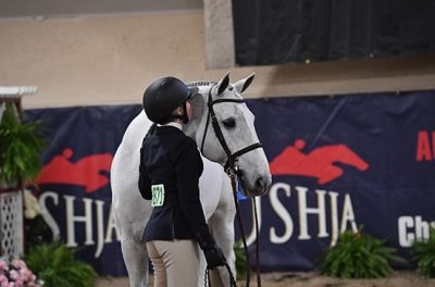 Emily Williams and Beach Boy Small Junior Hunter 16-17 Champion High Point Junior Rider 2019 Las Vegas National Horse Show