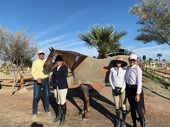 Gina Ross and Tealeo Amateur Owner Hunter 36 & Over Champion 2019 National Sunshine Series