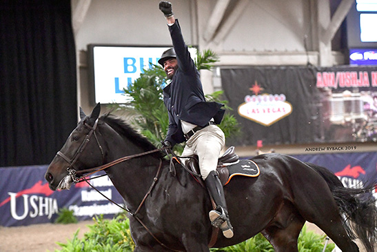 Jorge Hidalgo and Charlie Boy 2019 Las Vegas National Horse Show Photo by Andrew Ryback