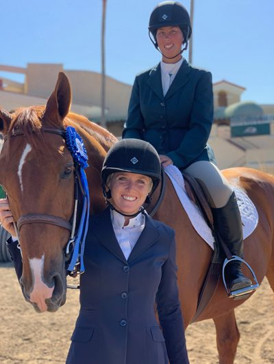 Meredith Mateo and Need I Say Low Adult Jumper Champion 2019 Del Mar National