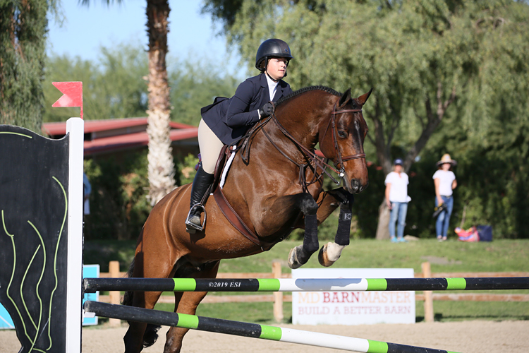 Stella Wasserman and Cohiba Washington Eq. Medal Winner 2019 National Sunshine Series Photo by ESI
