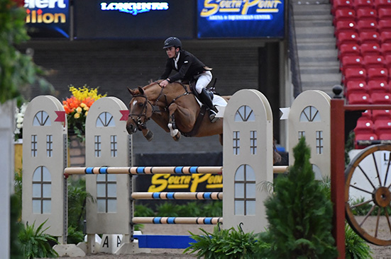 Trent McGee and Boucherom Winner 1.35m Jr/Am Grand Prix 2019 Las Vegas National Horse Show