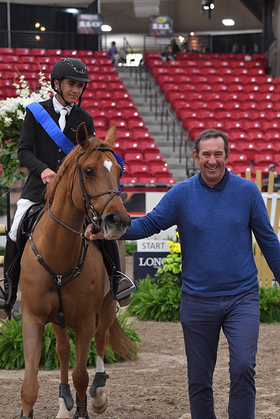 Trent Mcgee and Boucherom with Archie Cox Winner 1.35m Jr/Am Grand Prix 2019 Las Vegas National Horse Show
