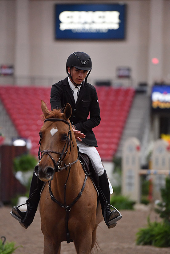Trent Mcgee and Boucherom Winner 1.35m Jr/Am Grand Prix 2019 Las Vegas National Horse Show