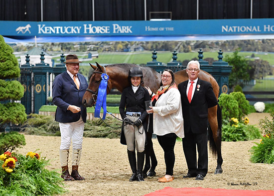 Violet Lindemann Barnett and Luscious Small Junior Hunter 16-17 Grand Champion Small Junior Hunter 2019 National Horse Show Photo by Shawn McMillen