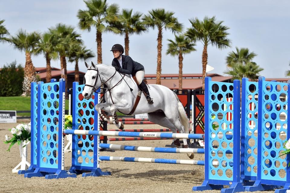 Alison Sweeney and Cabernet CPHA Style of Riding 2018 HITS Desert Circuit Photo by ESI