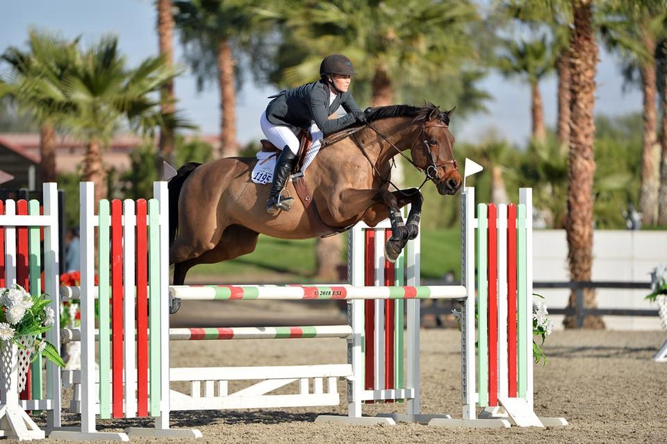 Alison Sweeney and Upfront Adult Jumper 2018 HITS Desert Circuit Photo by ESI