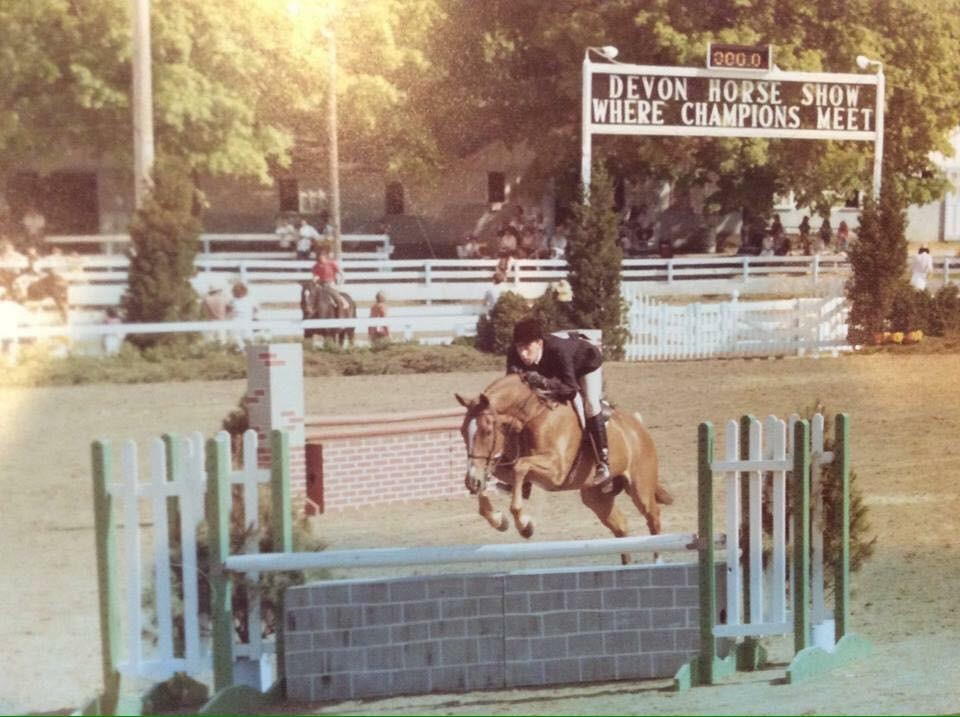 Archie Cox and Robert Hoskin's Bogart 1984 Devon Horse Show Large Junior Hunter