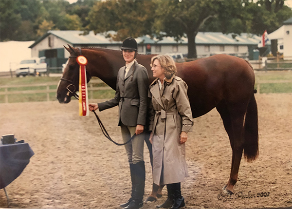 Camilla Cleese and Monterey 2001 Capital Challenge Reserve Champion Large Junior Hunter 16–17 Photo by J.L. Parker