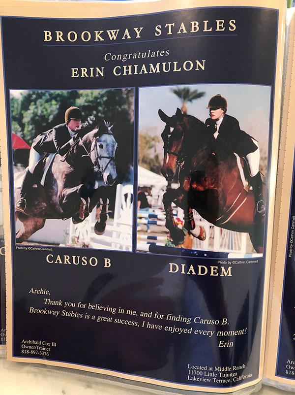 Erin Chimulon, Caruso B & Diadem