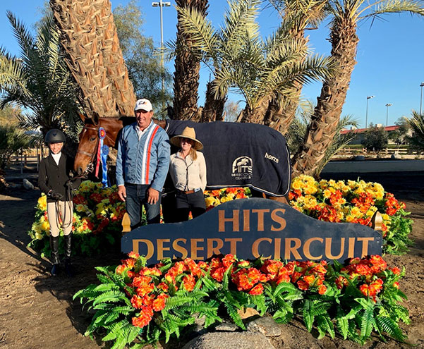 Gable Gering and Decklin Champion Equitation 12–13 2019 HITS Desert Circuit