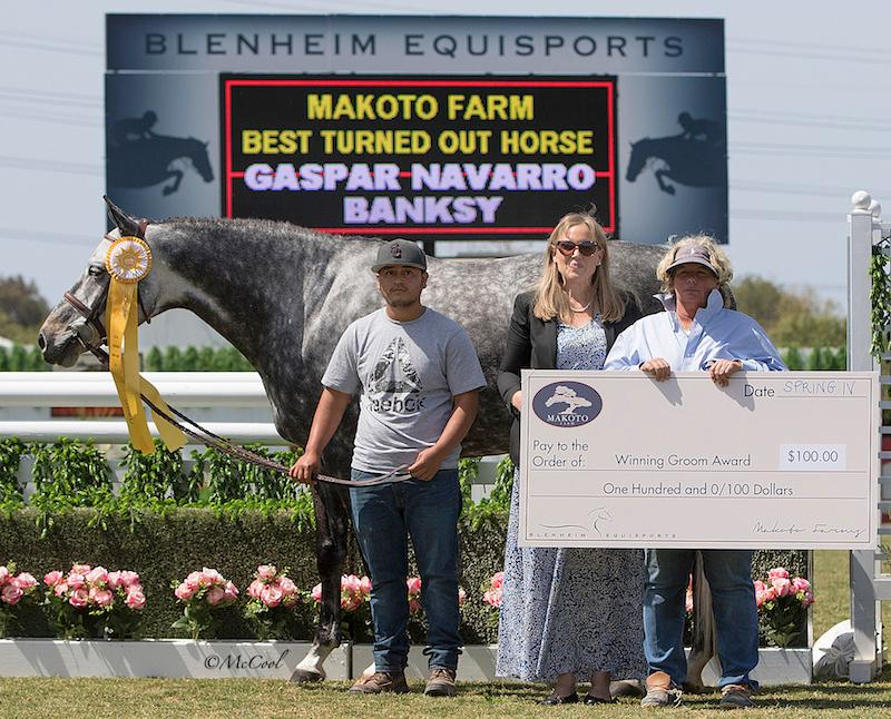 Gaspar Navarro and Banksy Makoto Farm Best Turned Out Horse Winning Groom Award 2018 Blenheim Equisports Photo by McCool