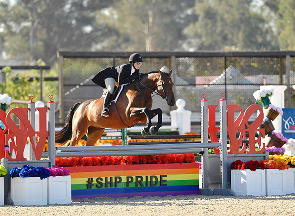 Grace Russo and Eclair HBC USHJA Champion Small Junior Hunter 2019 USEF National Junior Hunter Finals Sonoma Horse Park