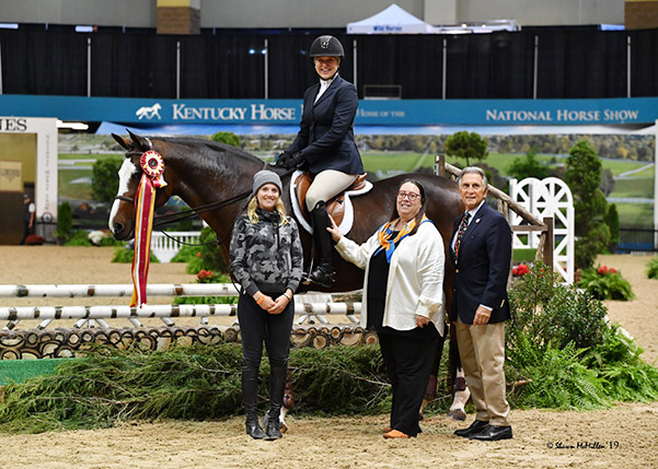 Jaime Krupnick and Conux Adult Equitation 36 & Over 2019 National Horse Show Photo by Shawn McMillen