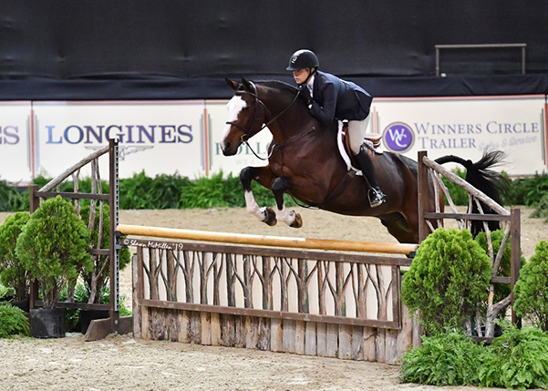 Jaime Krupnick and Conux Amateur Owner Hunter 36 & Over 2019 National Horse Show Photo by Shawn McMillen