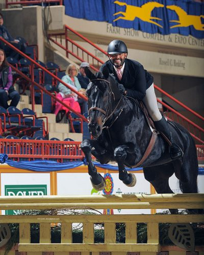 Jorge Hidalgo Duran and Charlie Boy 2018 Pennsylvania National Amateur Owner Hunter 36 and Over Photo by Al Cook