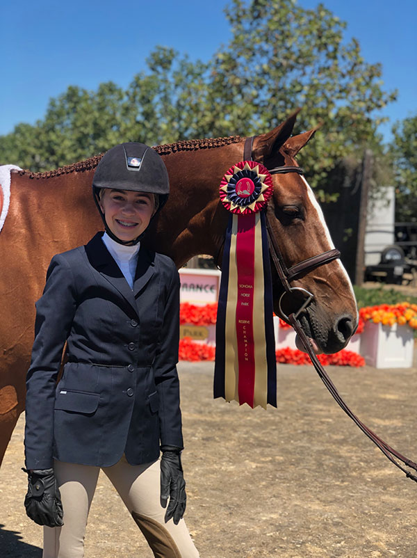 Margaret Sweeney and Polly Sweeney's Duet Reserve Champion Small Junior Hunter 2019 Giant Steps Charity Classic