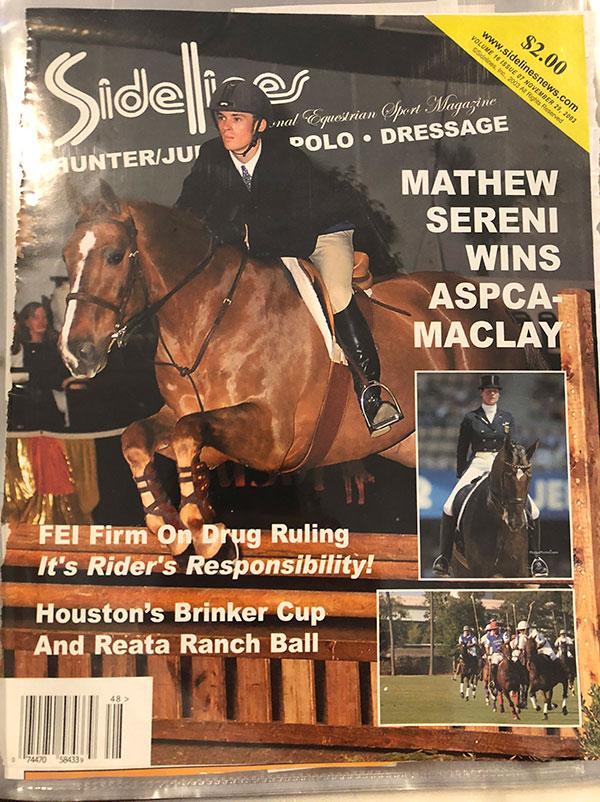 Mathew Sereni 2003 ASPCA Maclay Champion Sidelines Magazine Cover