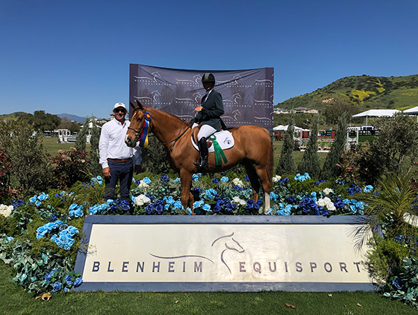 Meredith Mateo and Need I Say 2019 Blenheim Oaks June Classic Champion Low Adult Jumper