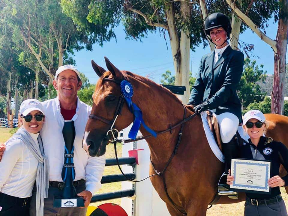 Meredith Mateo and Need I Say USHJA Zone 10 Pacific Coast Horse Show Association Champion Low Adult Jumper Champion and Classic Winner 2019 Showpark Summer Festival