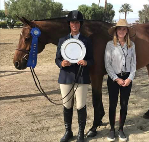 Meredith Mateo and Vanessa Adult Hunter Classic Winner 2019 HITS Desert Circuit