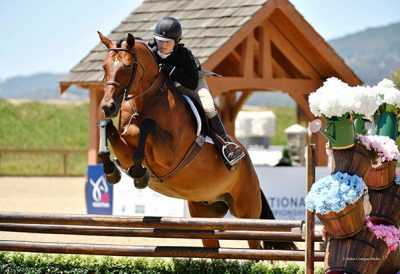 Stella Wasserman and Boss Small Junior Hunter, 15 & Under 2019 Giant Steps Charity Classic Photo by Alden Corrigan Media
