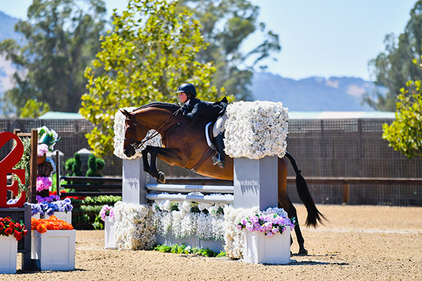 Stella Wasserman and Boss Champion Small Junior Hunter 2019 Giant Steps Charity Classic