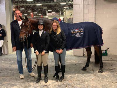 Stella Wasserman and Boss 2018–2019 Pennsylvania National Small junior Hunter Champion 15 and Under
