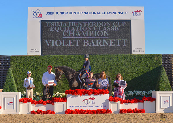 Violet Lindemann Barnett USHJA Hunterdon Cup Equitation Classic Champion 2019 USEF Junior Hunter National Championship Photo by Grand Pix
