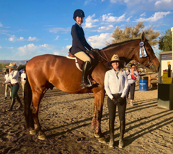 Vivienne Wood and Way Out West Equitation 11 & Under 2019 National Sunshine Series Desert International Horse Park