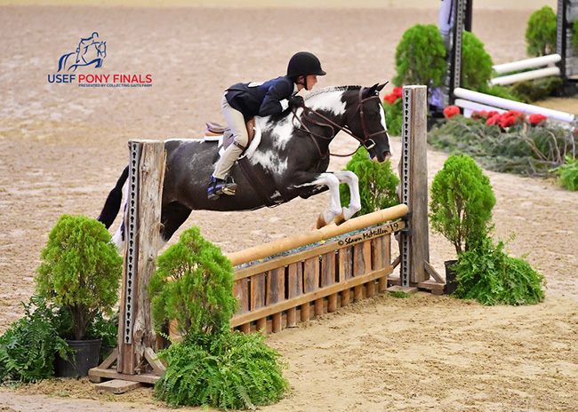 Alpine Griffin and Always Chipper Green Small Pony Hunter 2019 USEF Pony Finals Photo by Shawn McMillen
