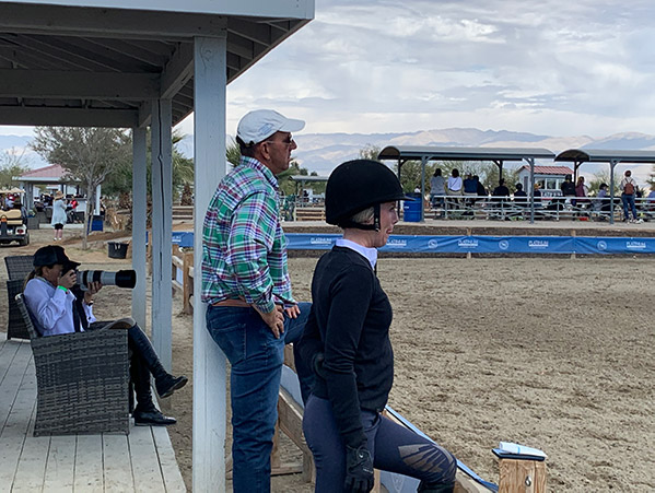 Laura Wasserman, Archie Cox and Karli Postel at the 2020 Desert Circuit