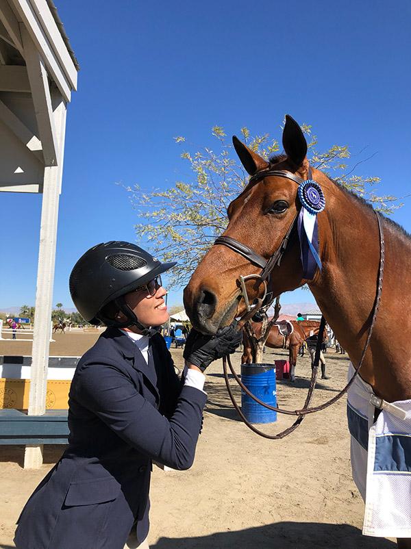 Caitlin Steimle and Teton Farm's Favorite High Performance Hunter Under Saddle Winner 2020 Desert Circuit