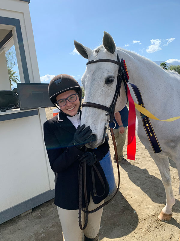 """Grace Russo and Emily Williams' Beach Boy Small Junior Hunter 3'3"""" and Classic Winner 2020 Desert Circuit"""