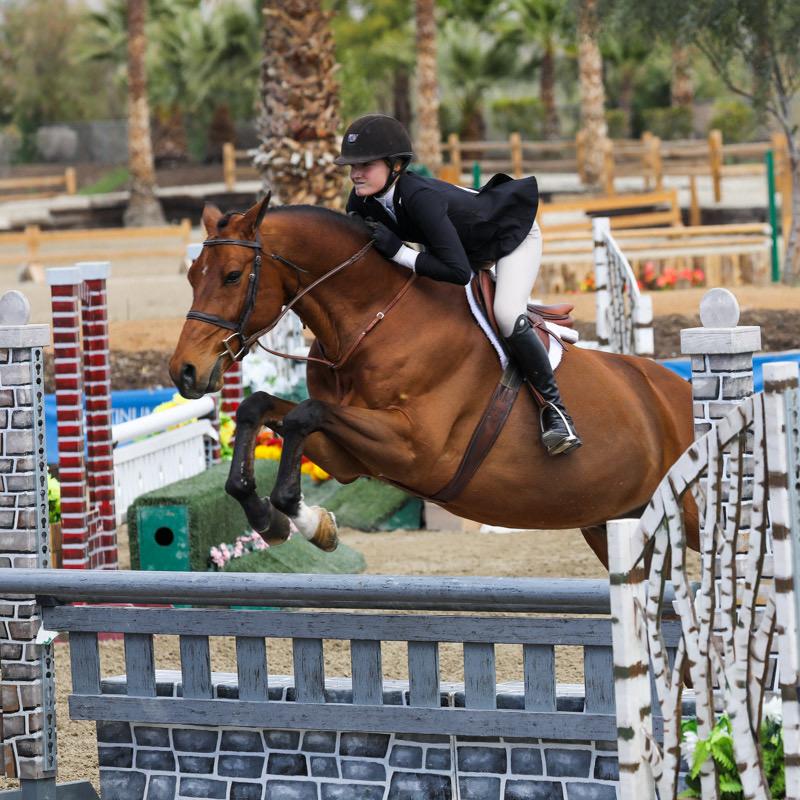 Kyra Russell and Teton Farm's Favorite Large Junior Hunter 15 & Under 2020 Desert Circuit