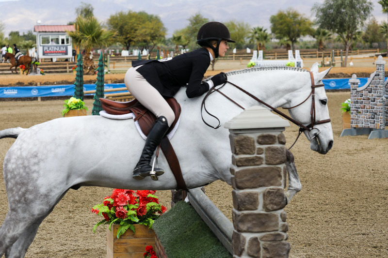 Kyra Russell and Teton Farm's Get Rowdy Large Junior Hunter 15 & Under 2020 Desert Circuit