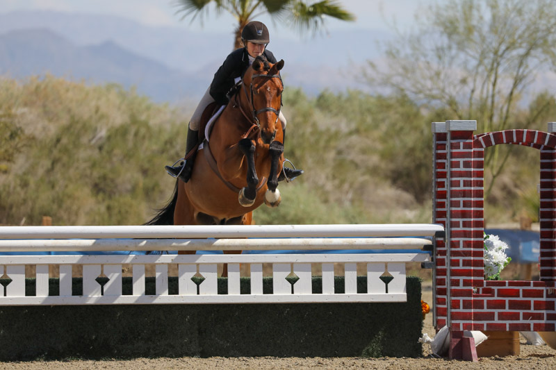 Kyra Russell and Teton Farms' Favorite Large Junior Hunter 15 & Under 2020 Desert Circuit