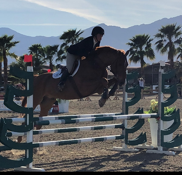 Meredith Mateo and Need I Say Low Adult Jumper Reserve Champion 2020 Desert Circuit