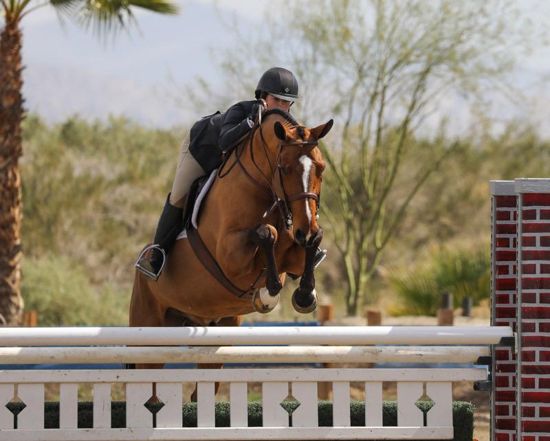 Stella Wasserman and Highseas Large Champion Junior Hunter Week 3 2020 Desert Circuit