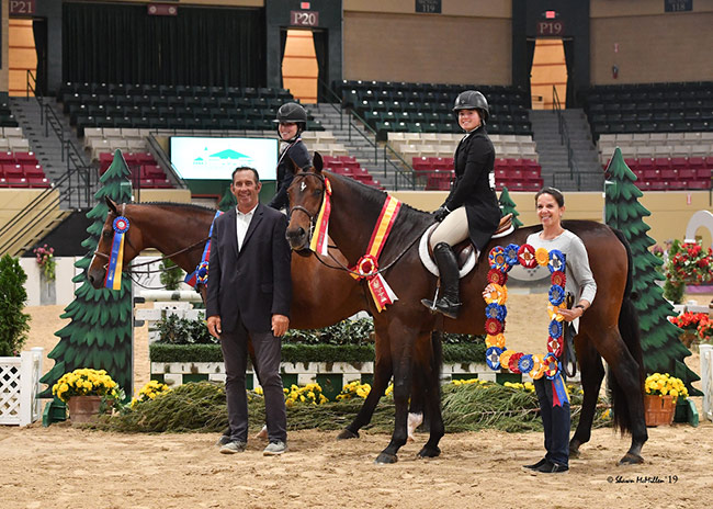 Ann Russo's San Marco and Juliet Joseph and Laura Wasserman's Boss and Stella Wasserman Junior Hunter Challenge Champion and Reserve Champion 2019 Capital Challenge Photo by Shawn McMillen