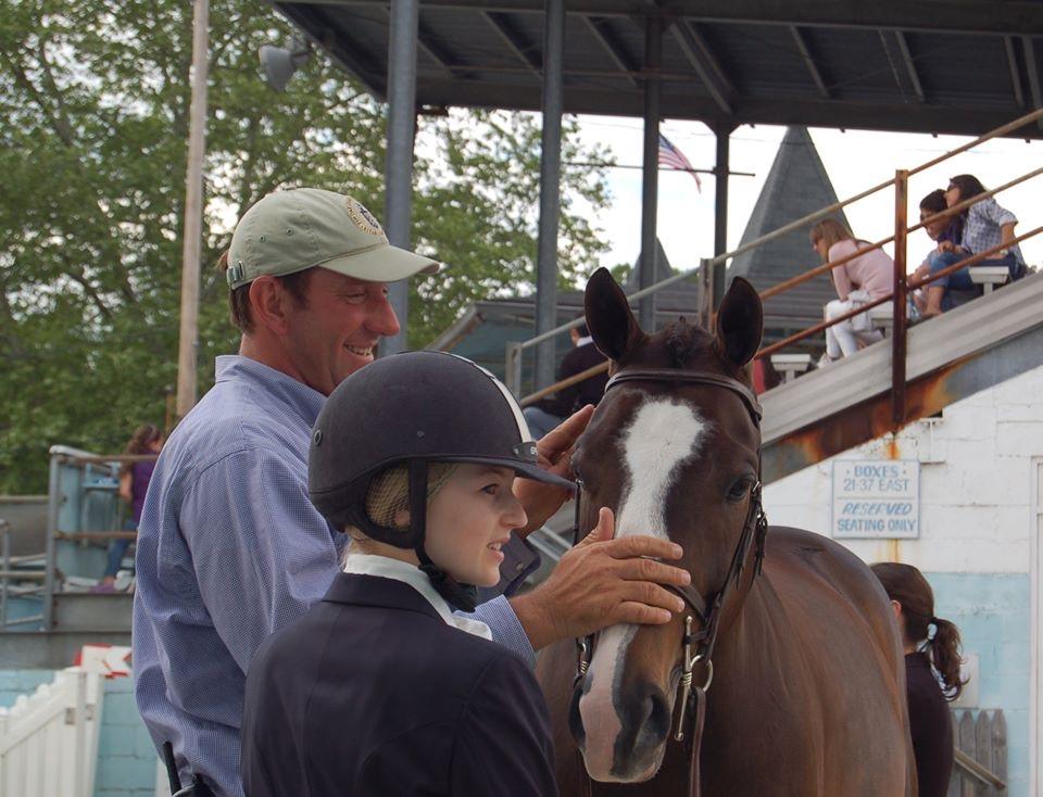 Archie Cox, Lucy Davis and Clockwork 2006 Devon Horse Show